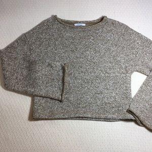 💎Zara Basic Bell Sleeve Cropped Sweater